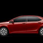 2014 Toyota Corolla in Barcelona Red Metallic