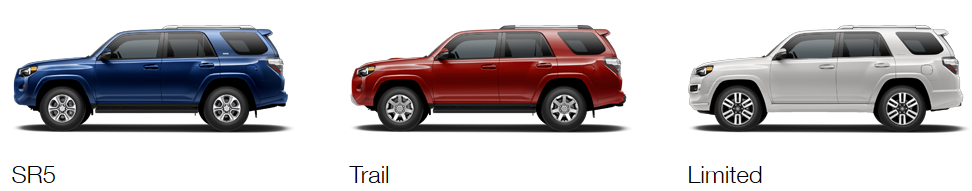 toyota 4runner sr5 vs trail vs limited