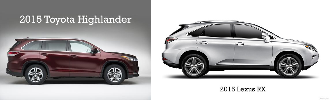 Comparing Suvs 2015 Toyota Highlander Vs 2015 Lexus Rx