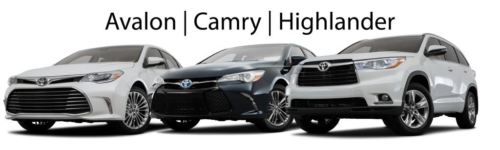Toyota Avalon, Camry, Highlander