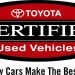 Why Purchase a Toyota Certified Pre-Owned Vehicle?