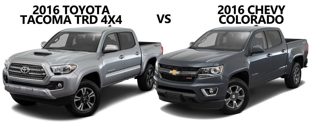 2016 Toyota Tacoma Trd Vs 2015 Chevrolet Colorado