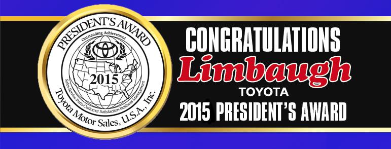 Limbaugh Toyota President Award 2015