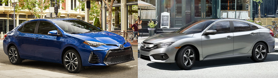 2017 Toyota Corolla vs. 2016 Honda Civic