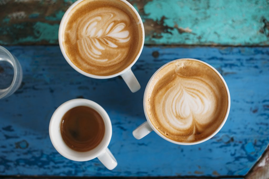fresh tasty cups of coffee