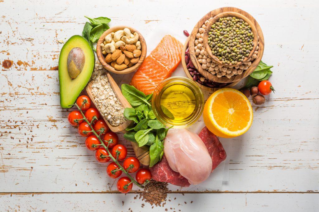 Selection of healthy food at Birmingham Restaurants