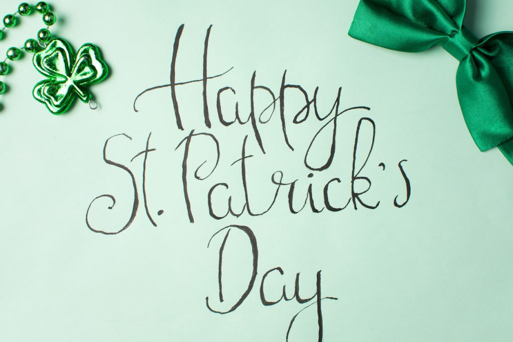 Happy Saint Patrick's Day calligraphy card