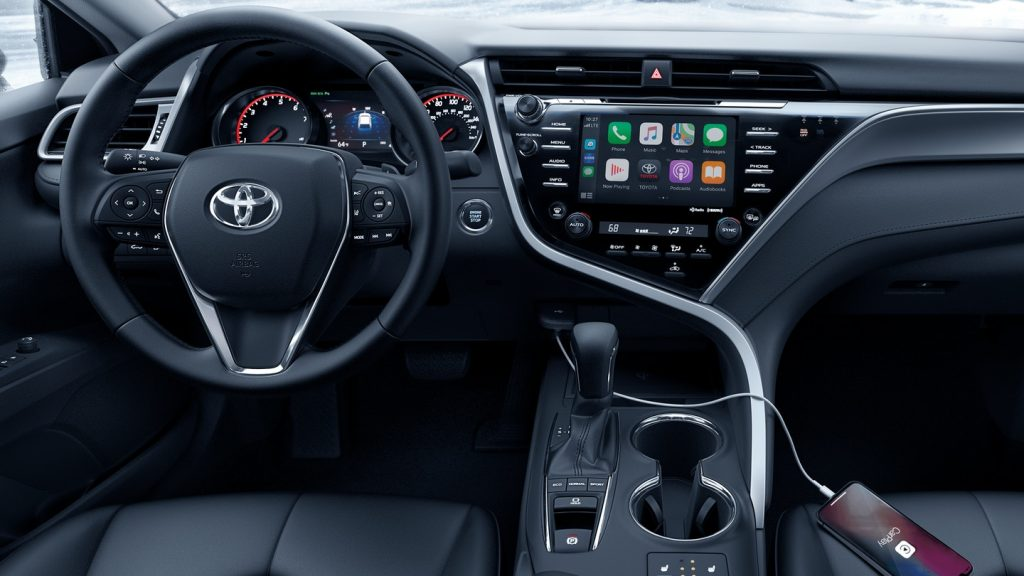 Dashboard inside the 2020 Toyota Camry